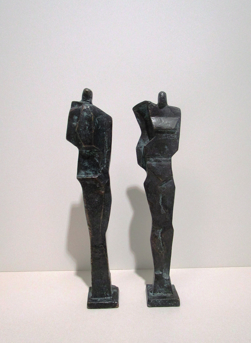 In and out, Bronze, Hoehe 29 cm - Galerie Wroblowski