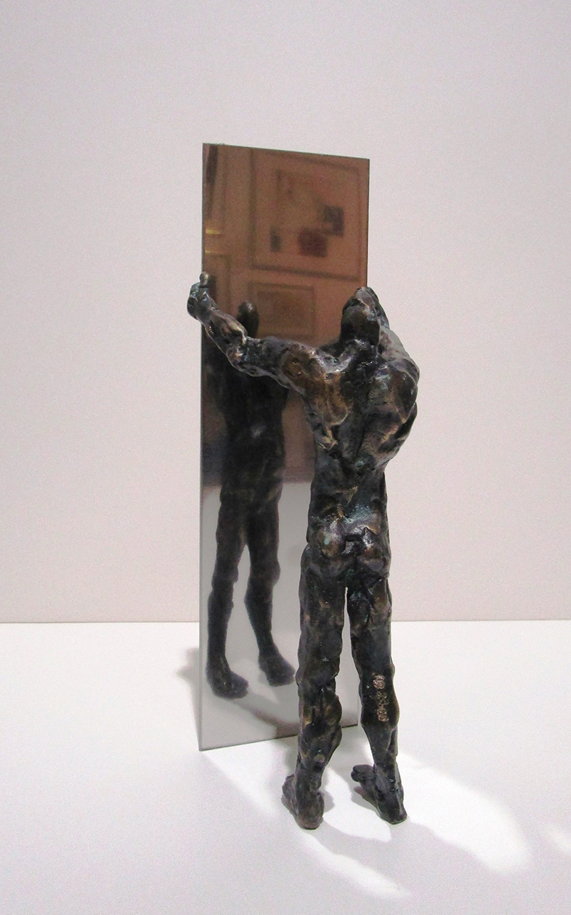 Narziss, Bronze, Hoehe 25 cm - Galerie Wroblowski